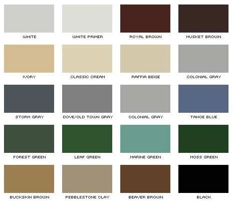 Certainteed Vinyl Siding Color Chart 28 Images