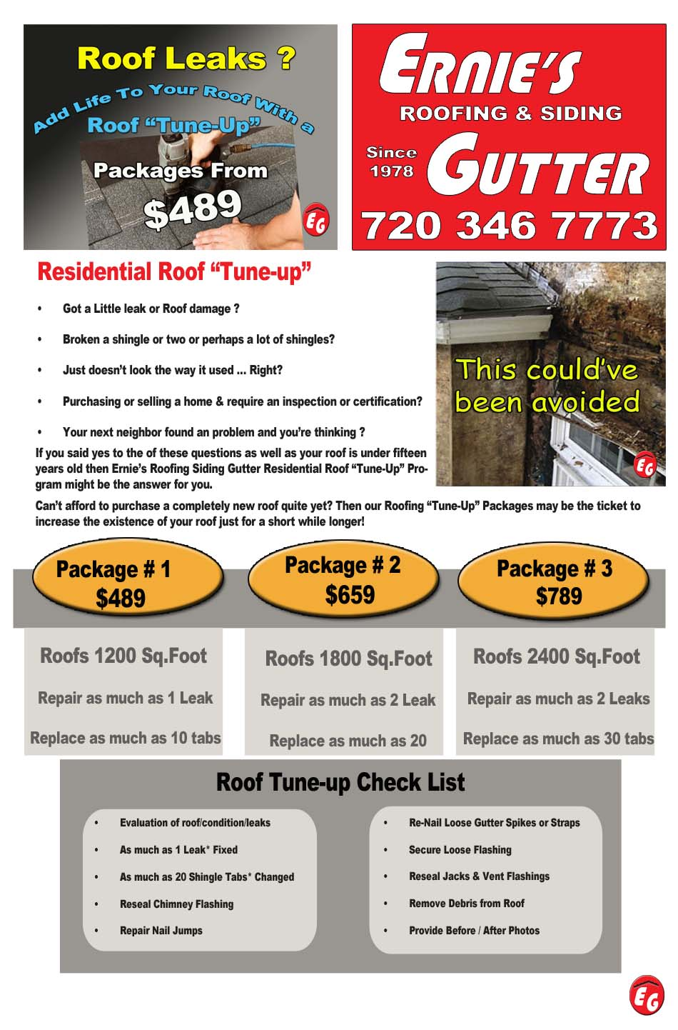 Roof Tuneup Roofing Siding Gutter Denver Co